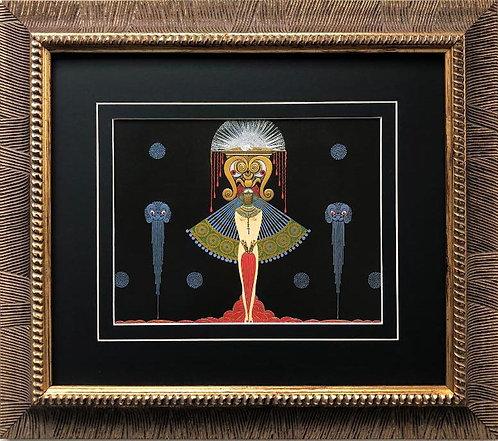 """Erte """"Salome"""" CUSTOM FRAMED Vintage Art Print"""