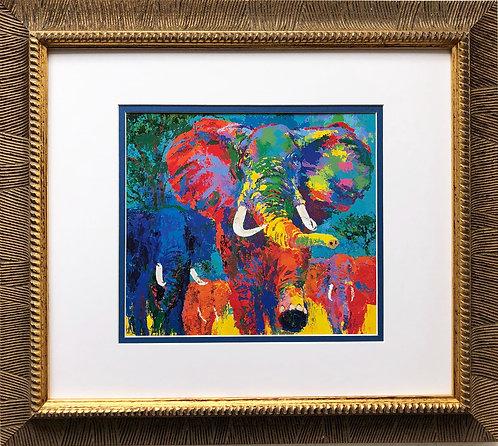 """LeRoy Neiman """"Elephant Charge"""""""