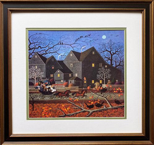"""Charles Wysocki """"Hellraiser's Passing"""" New FRAMED Art"""