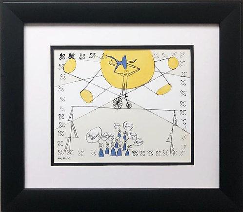 "Andy Warhol ""So Daring"" CUSTOM FRAMED Pop Art Lithograph"