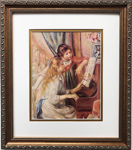"""Pierre-Auguste Renoir """"Two Girls at the Piano"""" FRAMED Art"""
