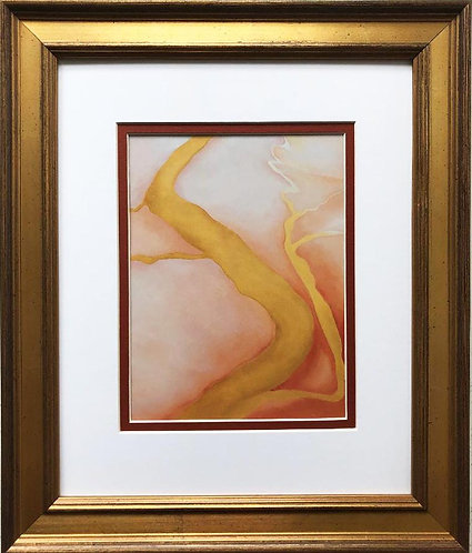 "Georgia O'Keeffe ""It Was Yellow and Pink III"" New Custom Framed Art Print"