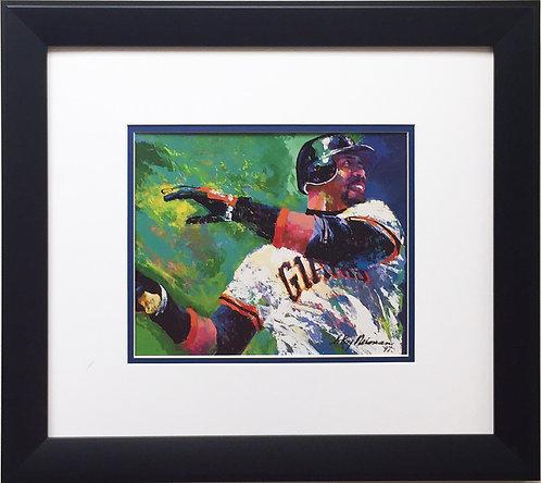 "LeRoy Neiman ""Barry Bonds"" Newly CUSTOM FRAMED Art Print - San Francisco Giants"