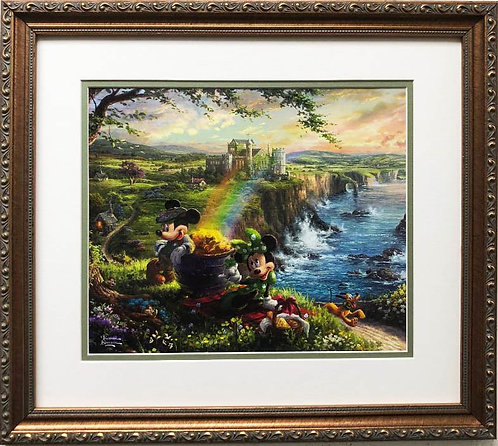 "Thomas Kinkade ""Mickey & Minnie in Ireland"" New FRAMED Art Print"