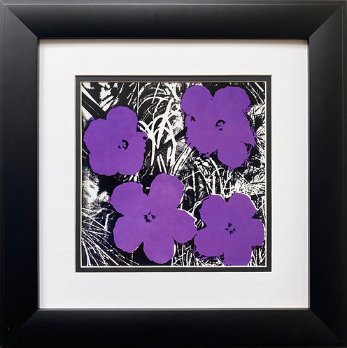 "Andy Warhol ""Flowers"" 1964 (purple) CUSTOM FRAMED Pop Art Litho"