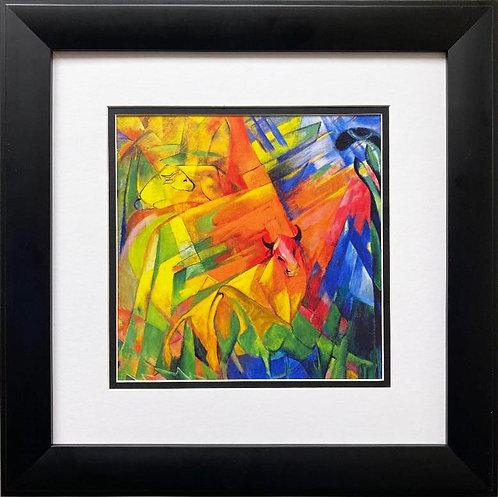 "Franz Marc ""Animals in a Landscape "" Framed Art Print"