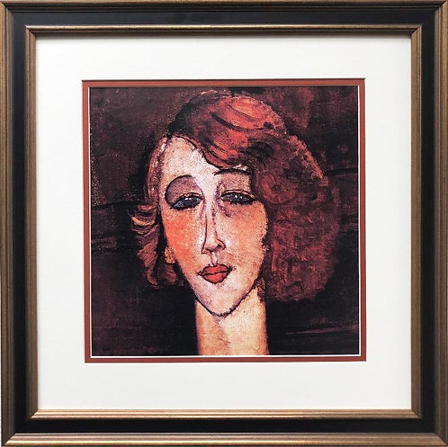 "Amedeo Modigliani ""The Blonde Renee"" CUSTOM FRAMED ART"