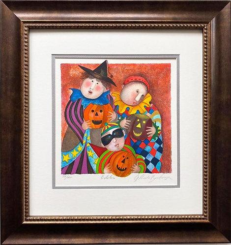 "G.R. Boulanger ""October"" Signed & # FRAMED ART"