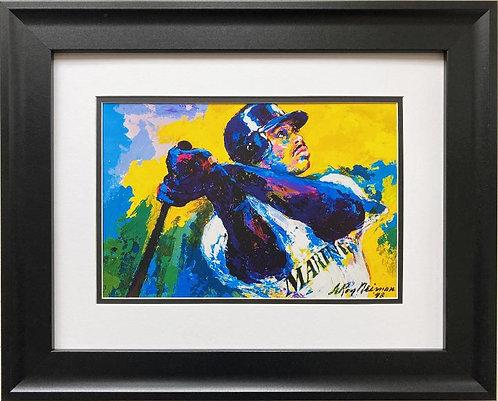 "LeRoy Neiman ""Ken Griffey Jr."" FRAMED New Art"
