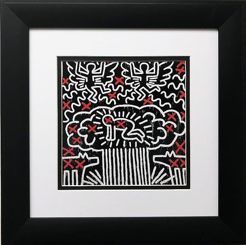 "Keith Haring ""Untitled #41"" CUSTOM FRAMED Print"