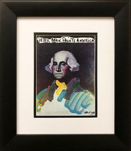 "Peter Max ""Peter Max Paints America"" New FRAMED Art POP"