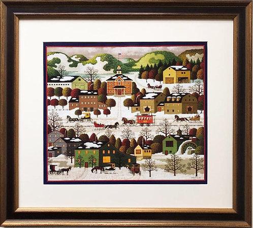 """Charles Wysocki """"Blossom River Junction"""" New FRAMED Art"""