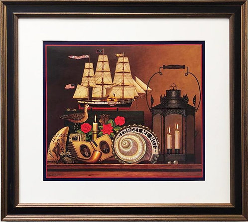 "Charles Wysocki ""FORGET ME N0T"" New Custom FRAMED Art"