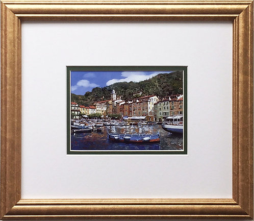 "Guido Borelli ""Portofino"" Newly CUSTOM FRAMED Hand Signed Lithograph ITALY Art"