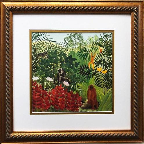 "Henri Rousseau ""Tropical Forest with Monkeys"" 1910 Framed Art Print"