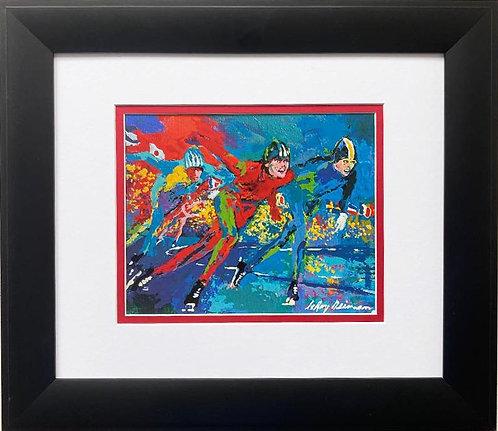 "LeRoy Neiman ""Ice Racers"" 1980 FRAMED Art Print"