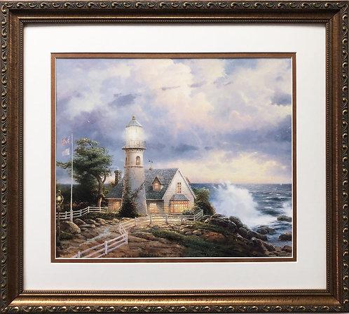 "Thomas Kinkade ""A Light in the Storm"""