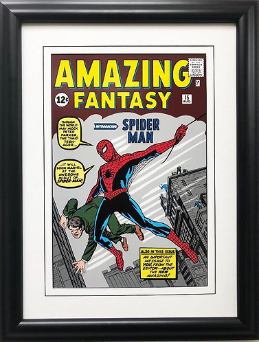 """Marvel """"The Amazing Fantasy introducing Spider-Man!"""" #1 Framed Comic Poster"""