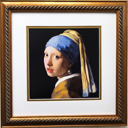 "Johannes Vermeer ""Girl with a Pearl Earring Framed Art Print"