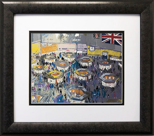 """LeRoy Neiman """"The Stock Exchange London"""""""