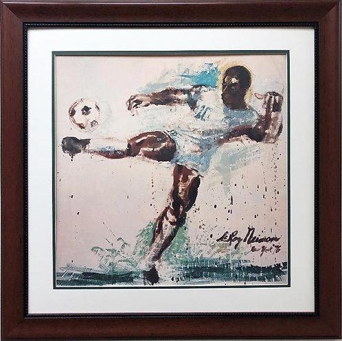 """LeRoy Neiman """"Soccer Player Pele"""" Custom FRAMED"""