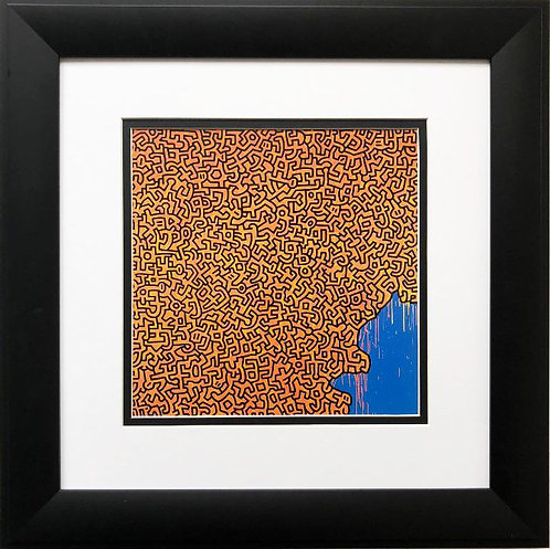 "Keith Haring ""Brazil"" CUSTOM FRAMED Print"