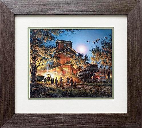 """Terry Redlin """"Bountiful Harvest"""" CUSTOM FRAMED Art Print"""