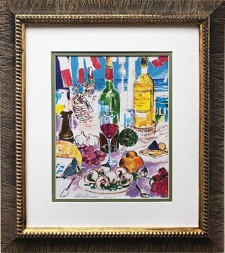 """LeRoy Neiman """"Mediterranean Still Life"""" FRAMED New Art"""