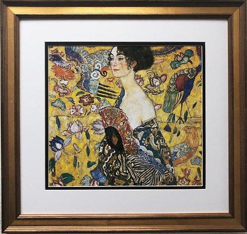 "Gustav Klimt ""Lady with Fan""(Detail) CUSTOM FRAMED ART"