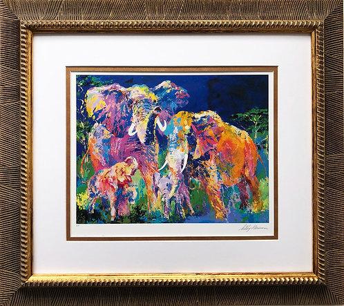 "LeRoy Neiman ""Elephant Family"""
