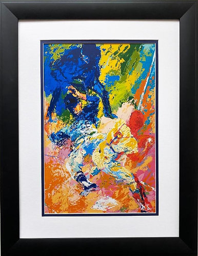 "LeRoy Neiman ""Jackie Robinson- Sliding Home"" FRAMED New Art Print"