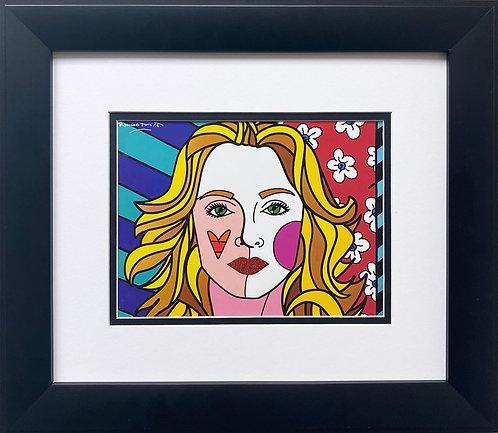 "Romero Britto ""Madonna"" FRAMED Plate Signed Pop Art"