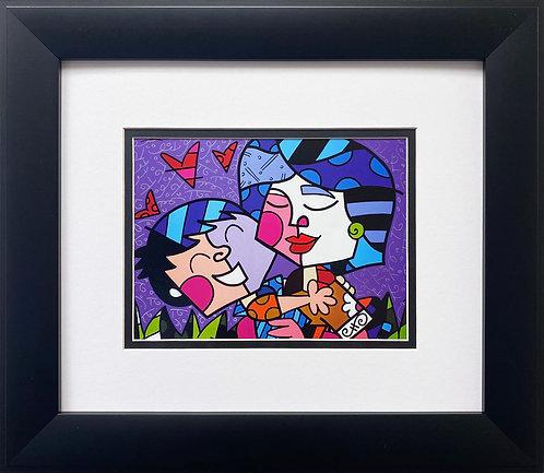 """Romero Britto """"Mother"""" CUSTOM FRAMED Pop Art"""