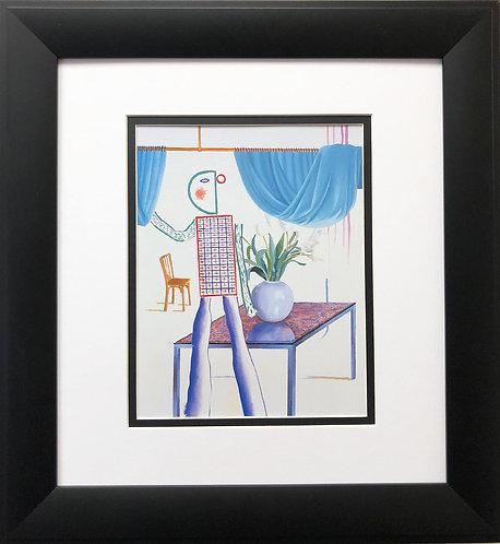 """David Hockney """"Invented Man Revealing Still Life"""""""
