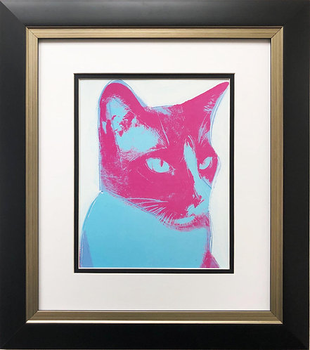 "Andy Warhol ""Cat"" 1976 CUSTOM FRAMED Pop Art Lithograph"
