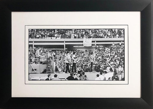 "The Beatles Collection ""Playing Shea Stadium"" Framed Art Poster"