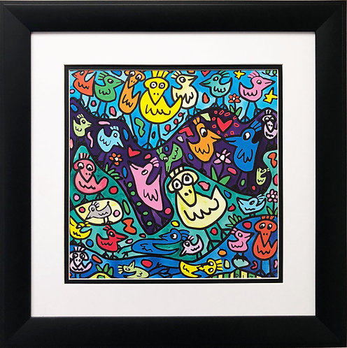 """James Rizzi """"Flocking Up With the Birds"""""""