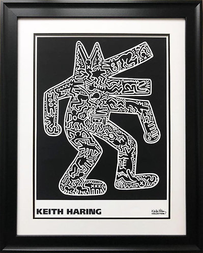 "Keith Haring ""Dog , 1985"" CUSTOM FRAMED Print Art"