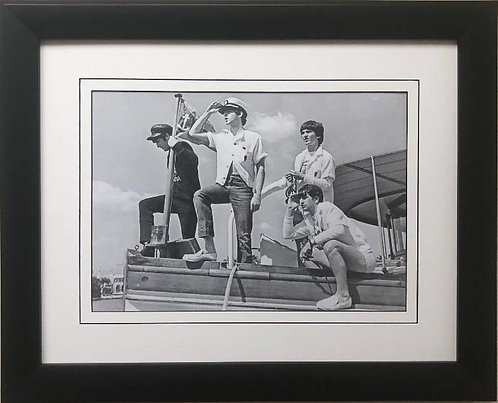 """The Beatles Collection """"Miami Yacht Trip"""" Framed Art Poster"""