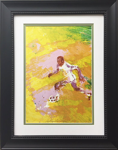 "LeRoy Neiman ""Down Field - Pele "" NEWLY CUSTOM FRAMED ART PRINT Soccer Futball"