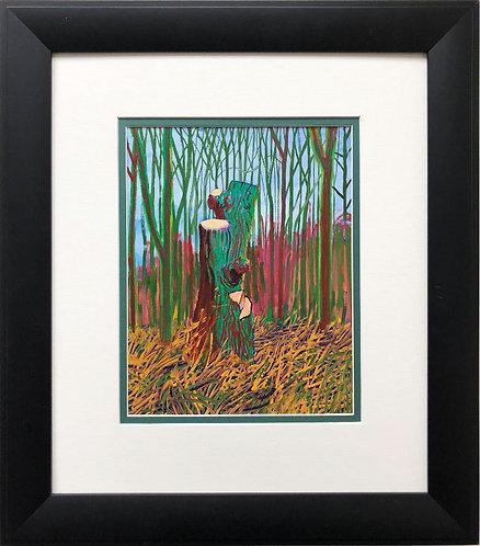 """David Hockney """"The Second Totem Tree"""" NEWLY CUSTOM FRAMED ART"""