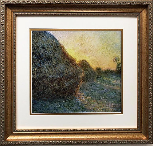 """Claude Monet """"Haystacks '1891"""" FRAMED ART"""