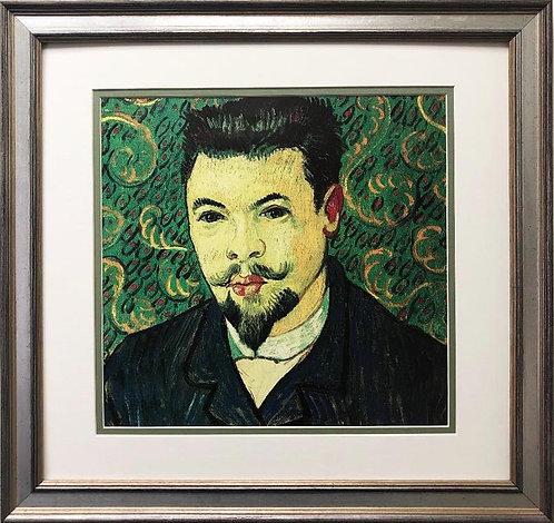 "Vincent Van Gogh ""Portrait of Doctor Felix Ray"" CUSTOM FRAMED ART"