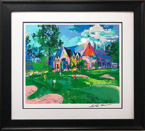 "LeRoy Neiman ""Winged Foot Golf"" Hand Signed Custom Framed Art Serigraph"