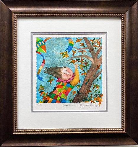 """G.R. Boulanger """"September"""" Signed & # FRAMED ART"""