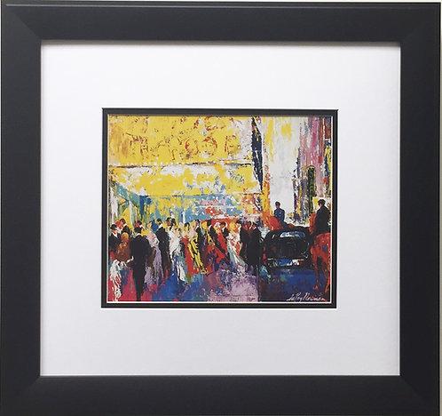 "LeRoy Neiman ""Broadway First Night"" Newly CUSTOM FRAMED Art Print - Opening NYC"