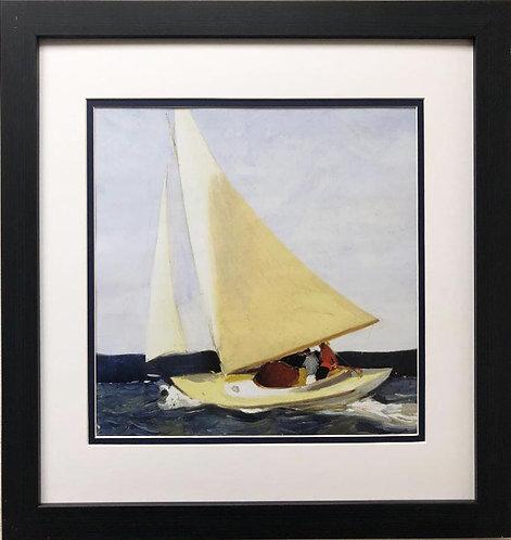 """Edward Hopper """"Sailing"""" (Detail) New CUSTOM FRAMED Art"""