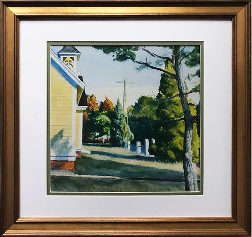 "Edward Hopper ""Church in Eastham"" (Detail) New FRAMED Art"