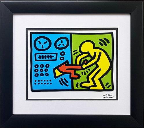 "Keith Haring ""Untitled"" (Machine) 1989 CUSTOM FRAMED Pop Art Plate Signed"