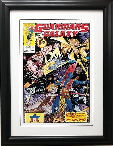 "Marvel ""Guardians of the Galaxy"" #1 (1990) Framed Comic Book Poster Art"